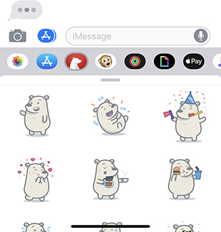 imessage stickers bear faq and support